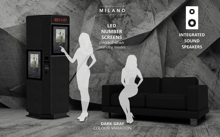 Milano is a fabric covered information & ticketing kiosk, which can be easily accessed also by wheelchair users. There are two standard sized touchscreens.. Industrial Design by REMION