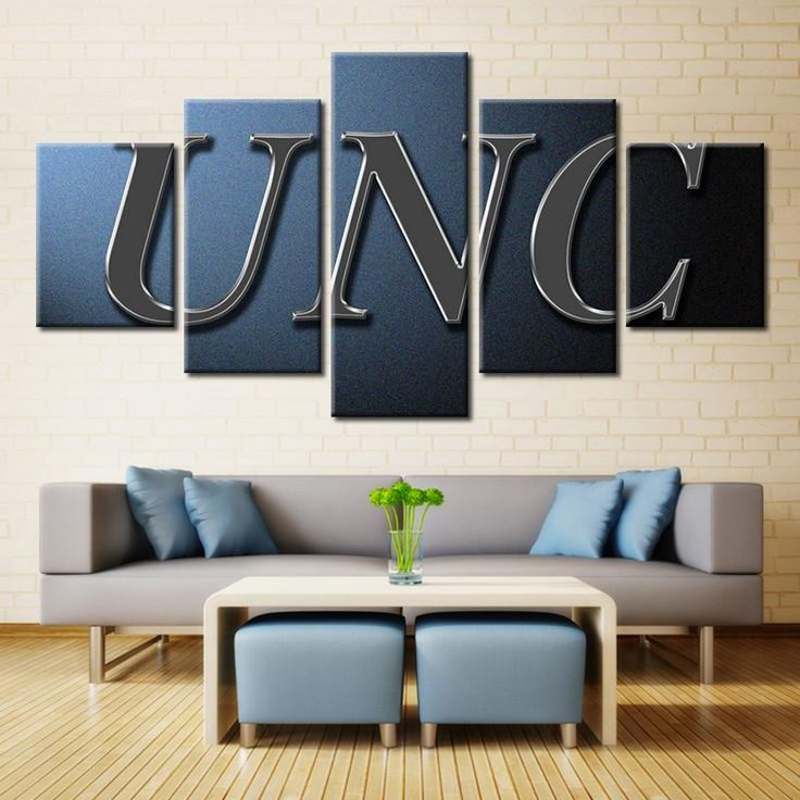 UNC Sports Logo Wall Art  #canvas #college #football #nfl #sport #wall #art