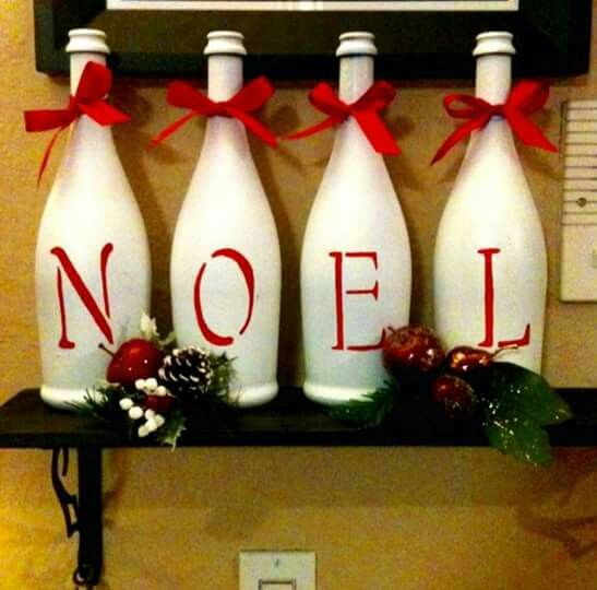 2181 best re scape winter holidays images on pinterest for Empty bottle decoration ideas