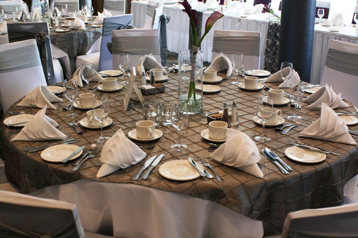 Decor: Charming Decor Event Design - Eggplant & Silver | Delta Victoria, BC | Weddings