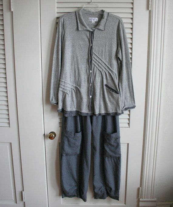 Plus Size Lagenlook Shabby Pants by BreatheAgainClothing on Etsy, $145.00