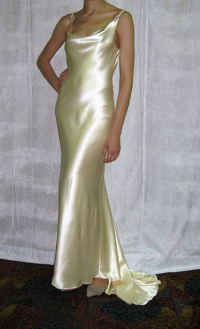 Low Back Sheath Silk Charmeuse Wedding Dress Other Low