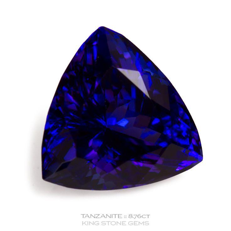 Tanzania Tanzanite Trillion - 8.76ct   KING STONE GEMS
