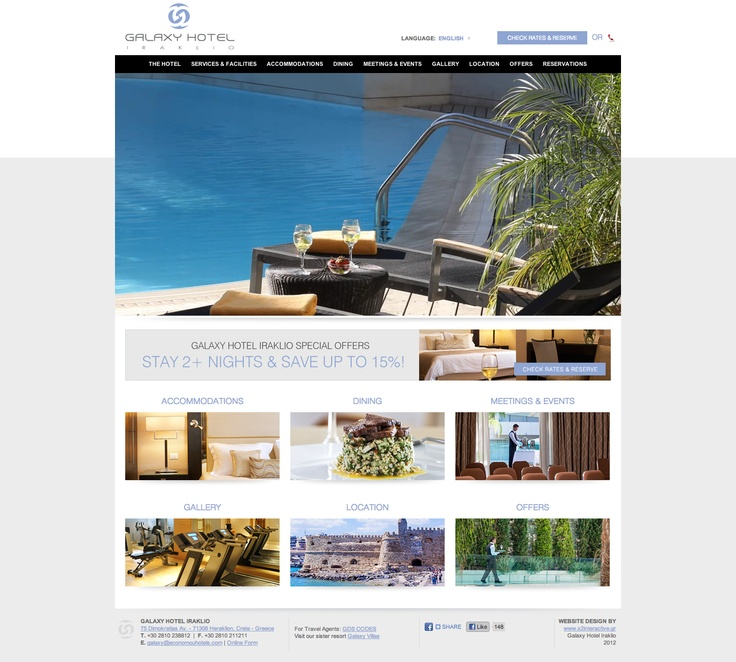 Our latest project release is for the Luxury Galaxy Hotel in Heraklion, Crete, part of the Economou Hotels group. Τhe new Galaxy Hotel website offerσ an easy to use navigation, well presented promos of the main categories on the home page and a lovely HD video slide show of the best parts of the magnificent Galaxy Hotel.    Check it out at www.galaxy-hotel.com and let us know what you think!