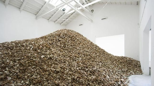 Seis toneladas de escombros en el pabellón español en la Bienal de Venecia