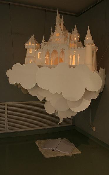 Paper cut art for a kids room.