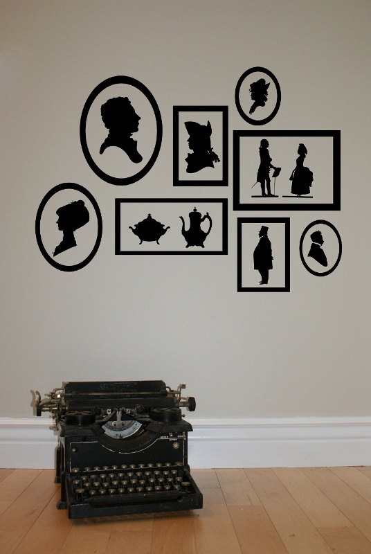 Vintage Silhouette Frames Decal. $28 & 88 best DECO WALL images on Pinterest | Deco wall Wall decal and ...