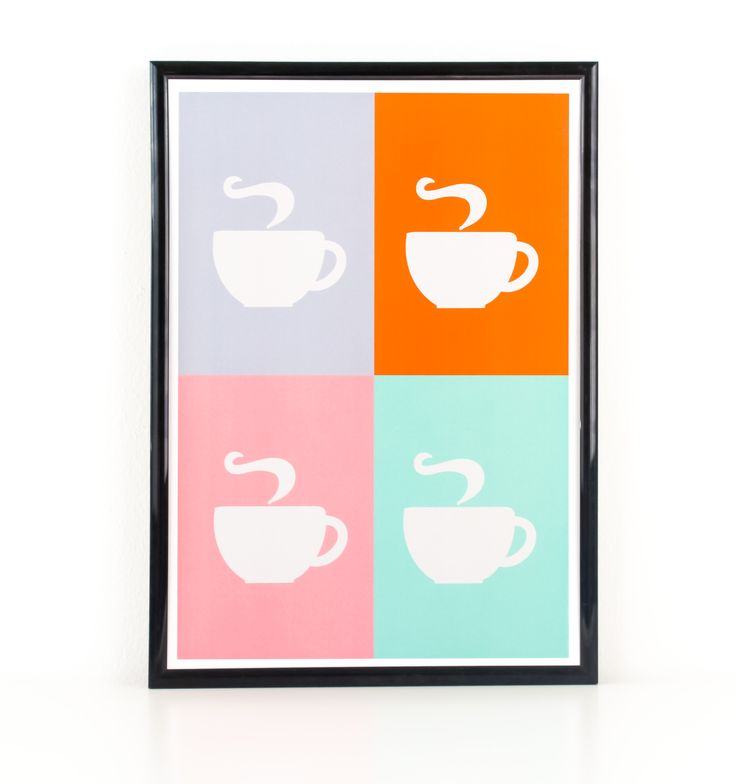 Fabulously simple and quirky coffee poster print. Great for your kitchen, dining room or home study....or anywhere else you'd like it to be for that matter!