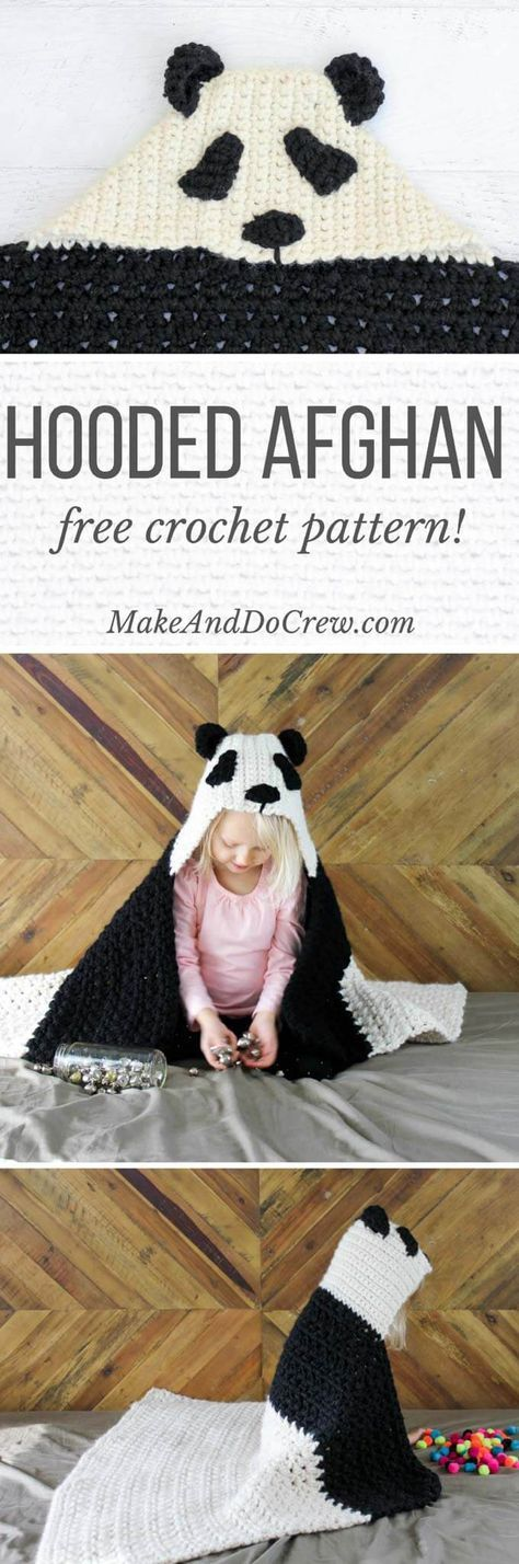 Crochê Panda Com Capuz Bebê Afegão - Padrão Livre