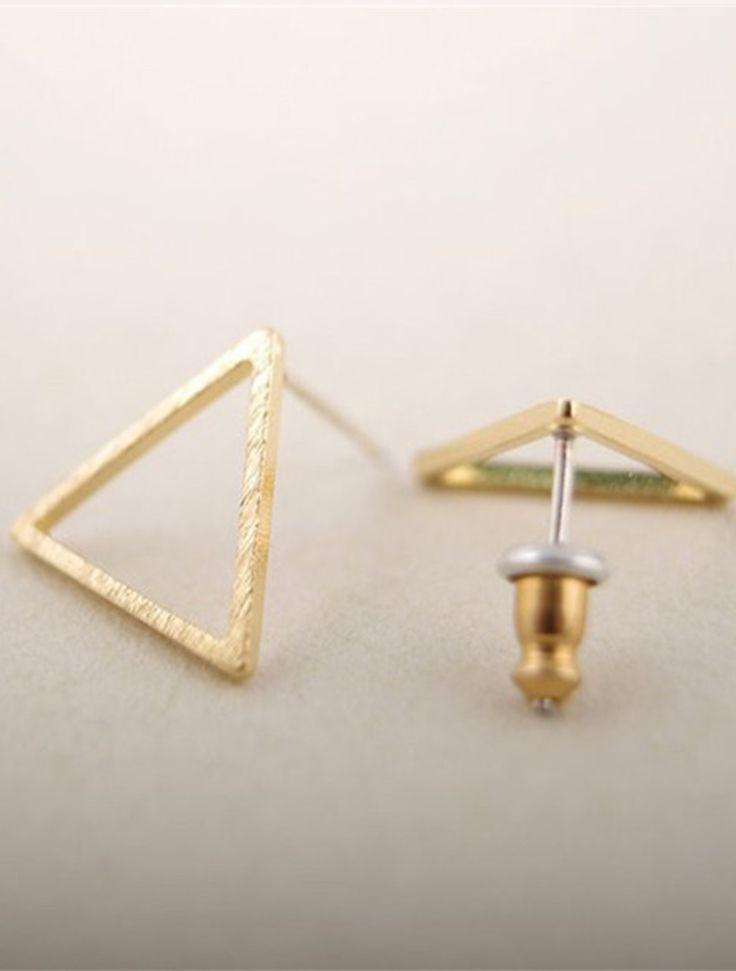 Geo-Triangle Stud Earring