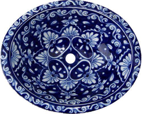 """Talavera Drop in Sink Mexican Ceramic 17x14""""  # X14"""