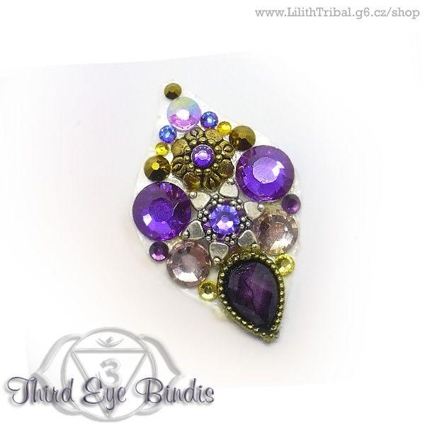 Mata Hari - purple - SOLD #tribal #bindi #tribalbindi #thirdeye #thirdeyebindis #tribalfusion #ATS #tribaldance