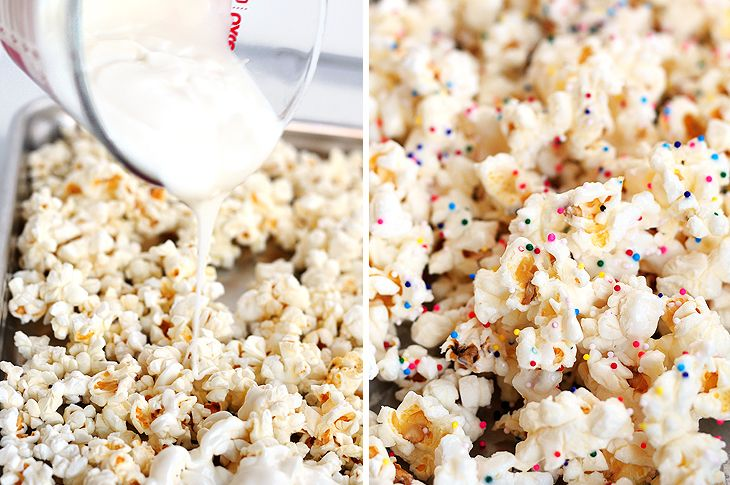 Party popcorn. Might be fun with a little cake mix added in for a cake batter popcorn.