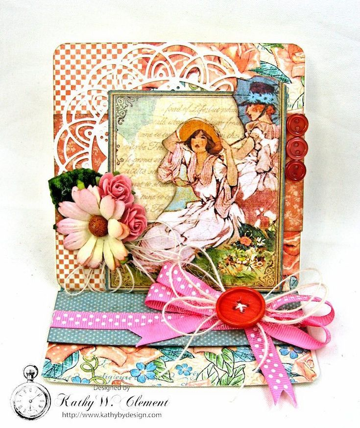 Mother's Day Easel Card A Place in Time by Kathy Clement for Really Reasonab…