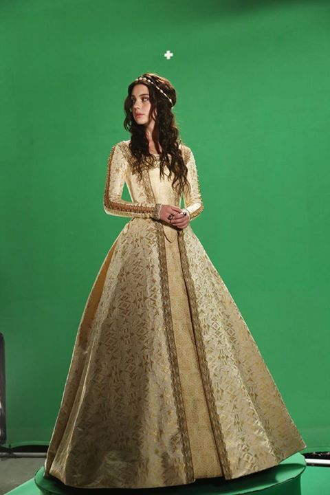 "These are the sorts of dresses I imagine Evy wearing as queen. ""Reign (The CW, 2013)"""