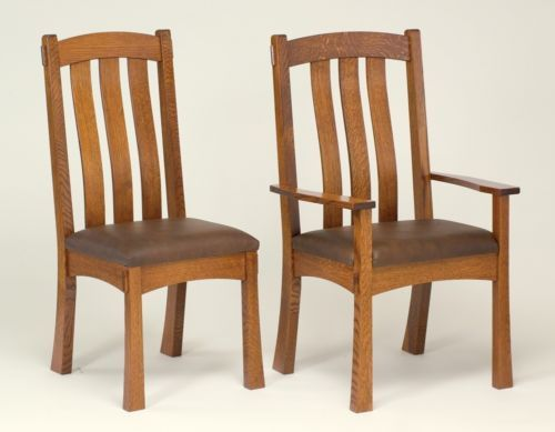 Amish-Mission-Trestle-Craftsman-Dining-Table-Chairs-Set-Wood-Rustic-Farmhouse