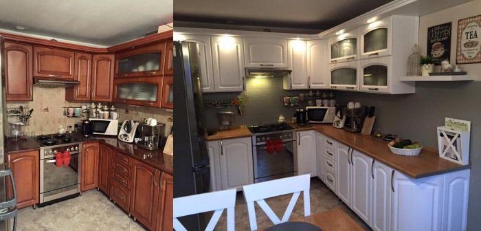 Imponujace Metamorfozy Zobacz Jak Tanio Odmienic Swoje Mieszkanie Kitchen Cabinets Kitchen Home Decor