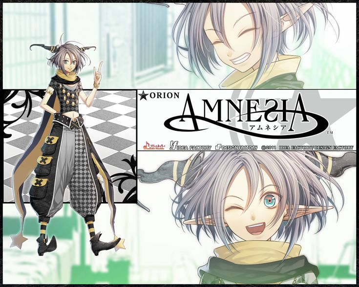 This Super Hot Anime Guy Is Called Orion He From The Amnesia New Show Of 2013 Spring Season