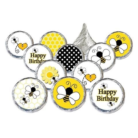 Bumble Bee Birthday Party Stickers (Set of 324)