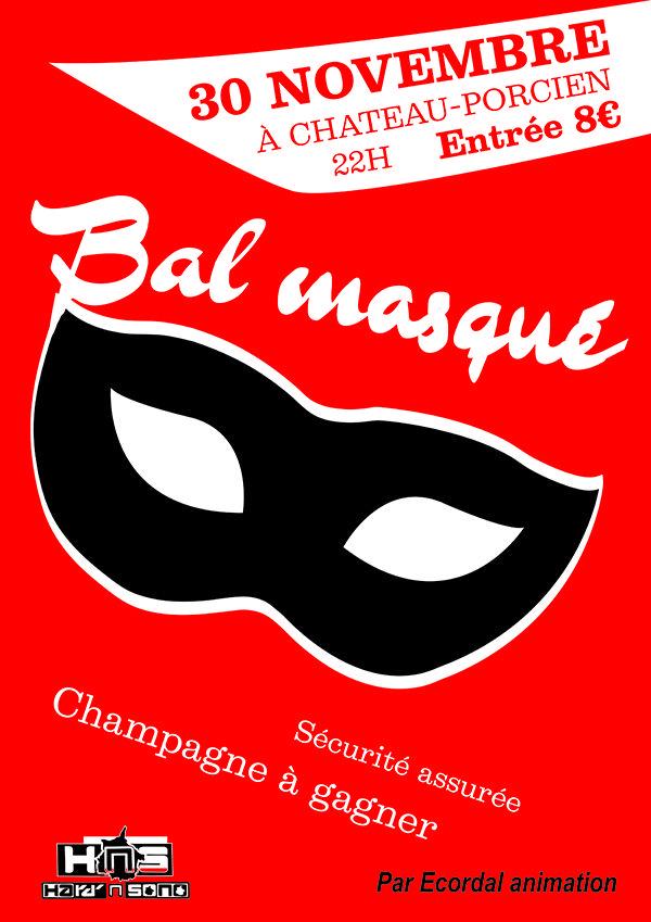 Création d'une identité visuelle (affiche, image de profil et page de couverture de l'événement facebook) pour le bal d'Ecordal en novembre 2013