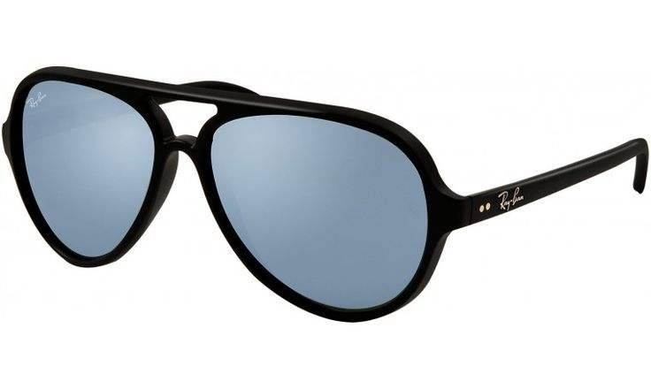Ray-Ban Cats 5000: Matte Black - Green Mirror Silver