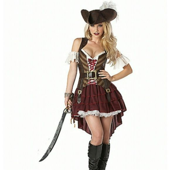 Sexy pirate Halloween costume Sexy pirate costume comes with only outfit and hat. Other