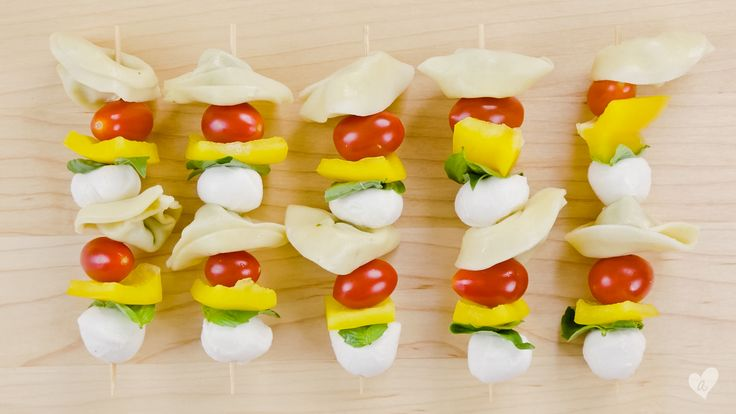 Tortellini Skewers -- Taking pasta salad to a whole new level!