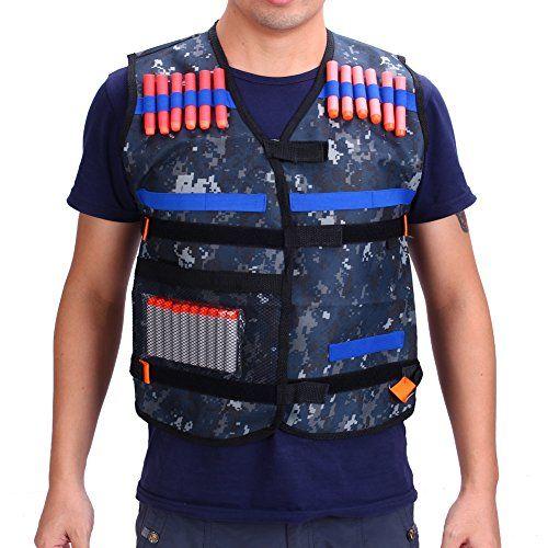 Gilet tactique enfants Elite veste camouflage avec fléchettes bullets balle chargeur recharge rapide lunettes protection pour Nerf Gun…