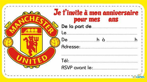 Clubs de foot 2 carte invitation pinterest carte - Image de foot a imprimer ...