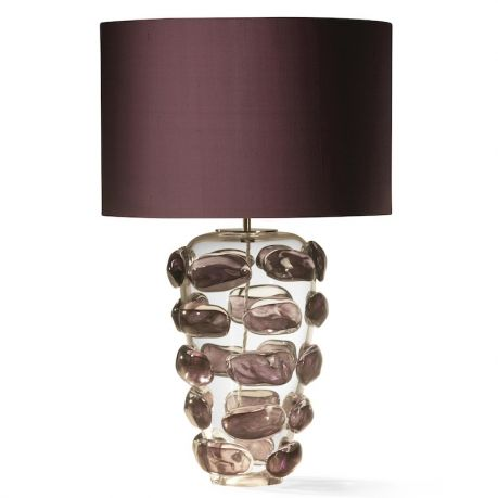 Finishes amethyst constructed from blown and molded glass with nickel plated brass height w shade 28 max wattage