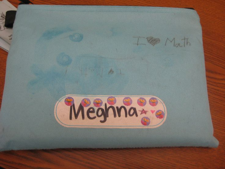 One of our favorite bags at KUMON SE Lexington, because this student is professing her love of MATH!  KUMON helps students learn basic math skills one at a time, with no rushing.  Math at just the right pace = LOVE.  http://whatiskumon.blogspot.com/