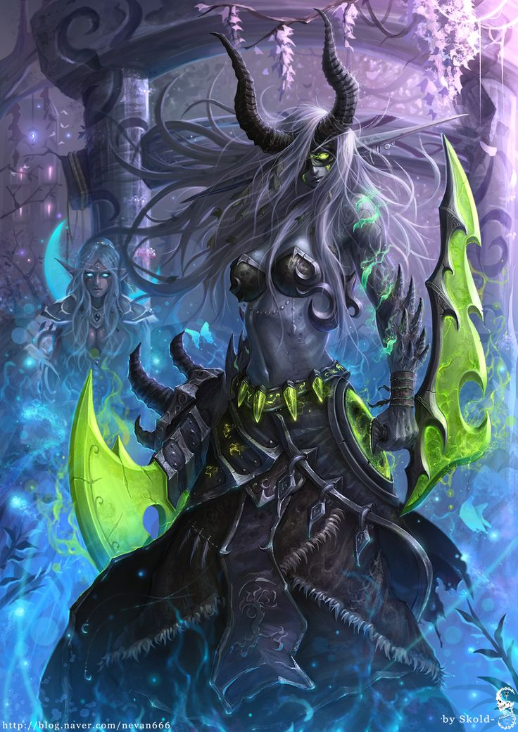 Night Elf Demon Hunter in the Darnassus by GothmarySkold.deviantart.com on @DeviantArt