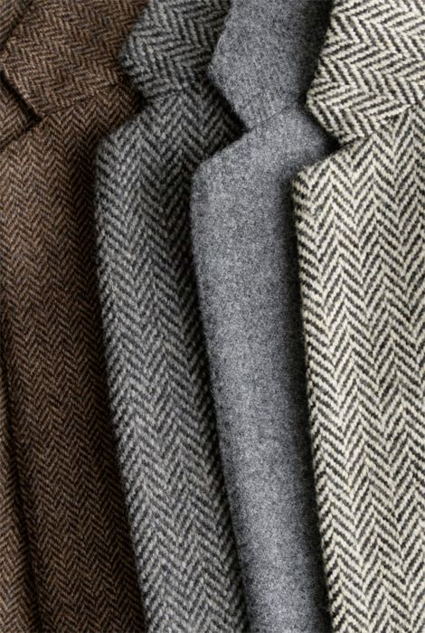 Herringbone and wool blazers