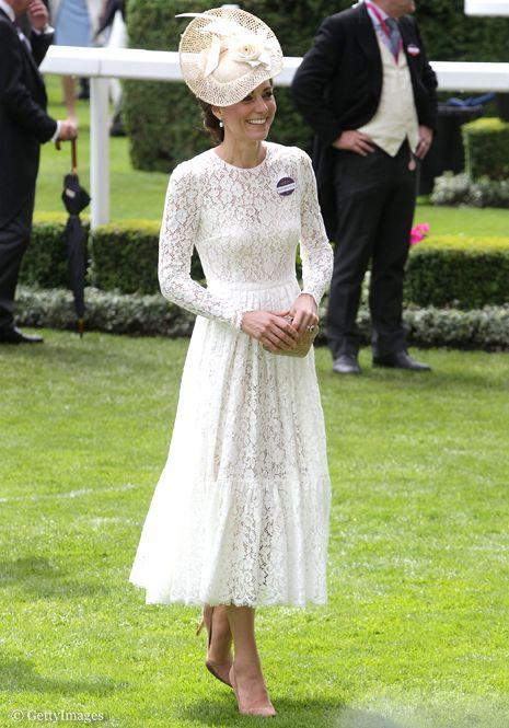 Герцогиня Кембриджская в платье Dolce Gabbana на Royal Ascot