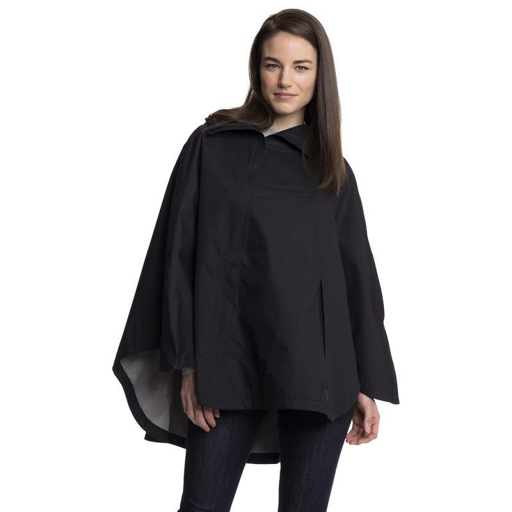 Sideswept Poncho: Easy to wear and love, this minimalist rain poncho quietly houses its technical features. The oversized silhouette with shortened sleeves gives a laid-back bohemian look