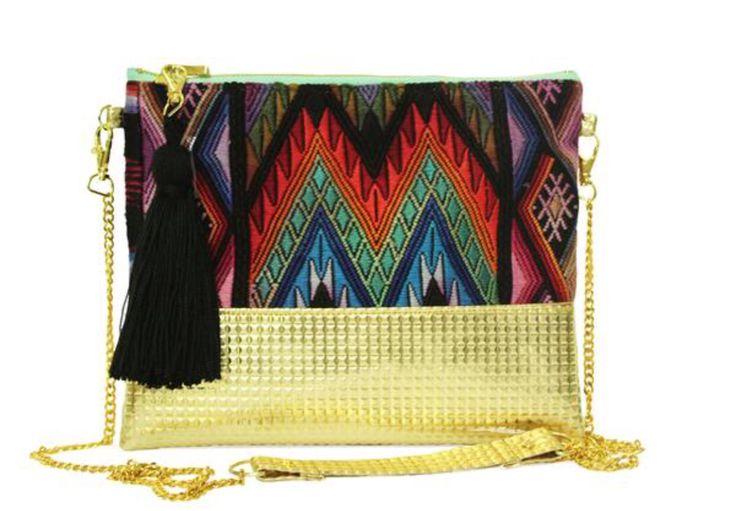 Gold - Handcrafted Clutch & Crossbody Bag