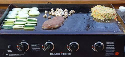 how to cook teppanyaki steak, flattop griddle, steak and scallop recipe