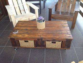 Sillas y mesas hechas con palets decoraci n con palets for Muebles de paletas recicladas