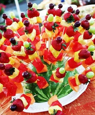 Fruit Bouquet - Summer Wedding Centerpieces [Slideshow]
