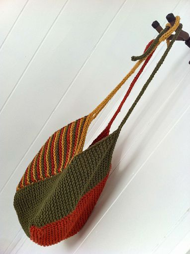 Windmill Bag - easy and fast to knit - free pattern