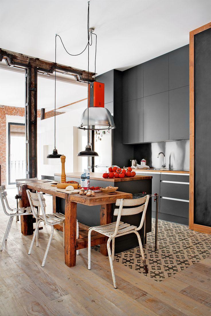 88 best Cocinas grises images on Pinterest   Kitchen ideas, Kitchen ...