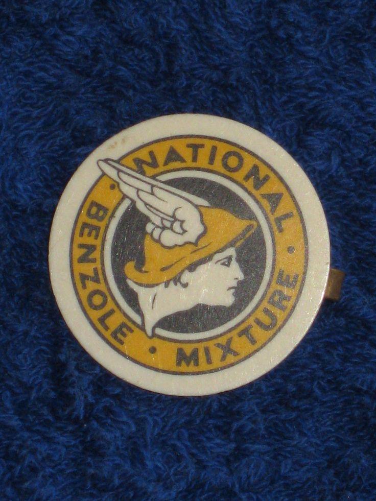 VINTAGE NATIONAL BENZOLE NATIONAL MIXTURE PROMOTIONAL PIN BADGE. | eBay