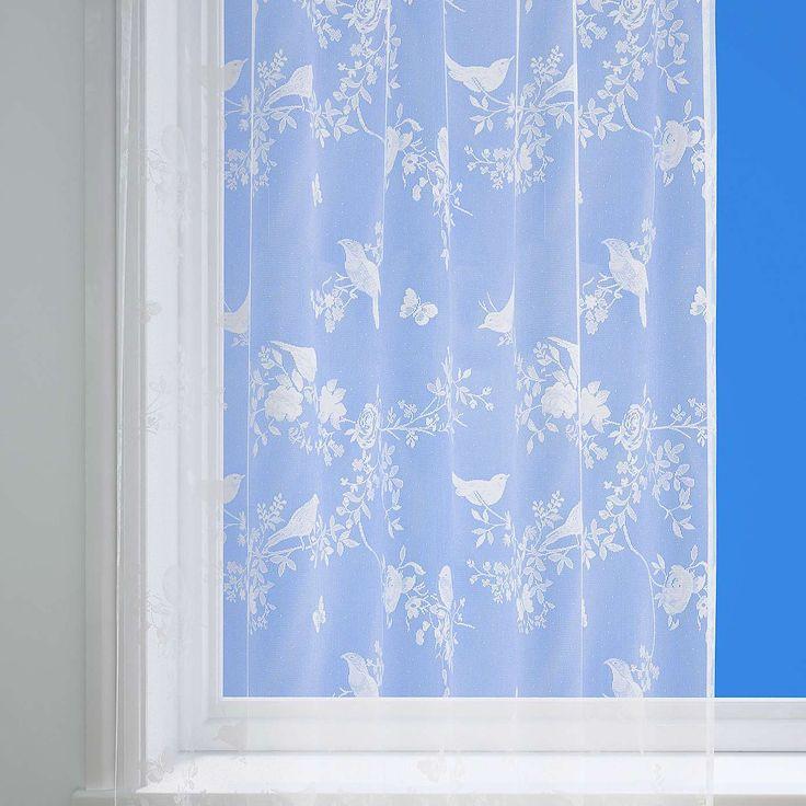 Beautiful Birds Lace Net Panel   Dunelm