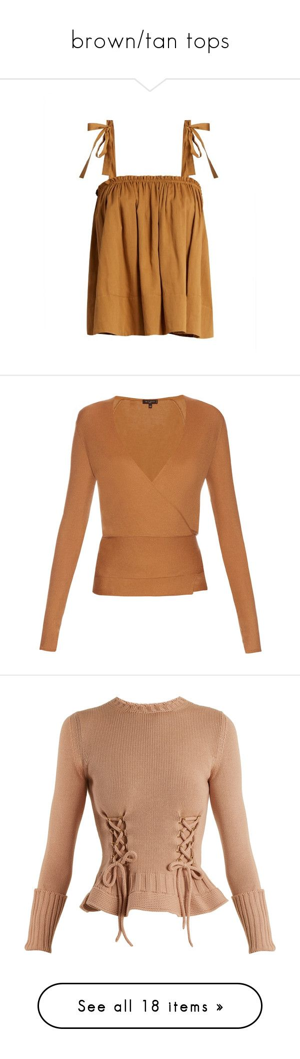 """""""brown/tan tops"""" by mrstomlinson974 on Polyvore featuring tops, brown top, cardigans, etro, beige, tie waist cardigan, wrap around cardigan, cashmere top, wrap around top and wrap cardigans"""