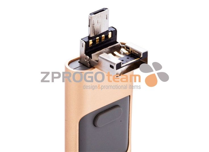 NOVINKA - NEW: Elegant OTG USB flash drive 3 in 1, that is for IOS iPhone / iPad / iPod, Android and PC.
