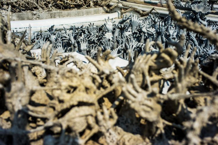 hands from hell - Taken in remarkable White Temple in Chiang Rai, Thailand.