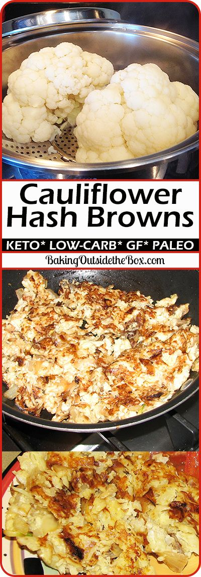 Low-Carb cauliflower hash browns.