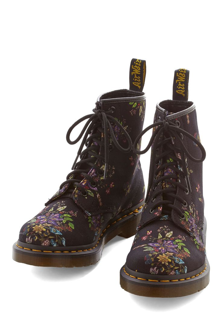 floral boots from Dr. Martens