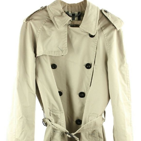 """Trench Coat Men's   BG-#7571704"" Burberry London Beige Trench Coat Sz 48 US 14  Womens XL  Very Fashionable Jacket For The Rainy Weather!  Needs Cleaning, Bottom Of The Coat Has Stain Marks.  Please See Photos For Further Details. Burberry London Jackets & Coats Jean Jackets"