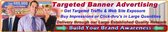 Your graphic & banner ads are displayed on tens of thousands of web sites all over the internet on your behalf.   Every time your banner ads are shown on our network to real & targeted people - that counts as an ad impression. When people click on your ad and go to your web site that counts as a click-thru. On our network, for a very low cost you can purchase ad impressions AND/OR click-thru's.